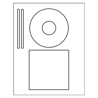 CD/DVD Label & Insert on one sheet