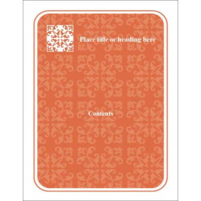 Autumn Flourishes Binder Cover Insert