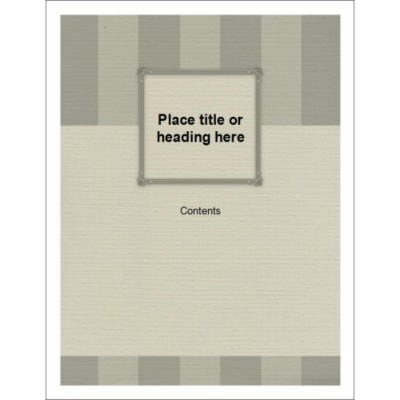 Monochrome Bars Binder Cover Insert for 1/2 inch binders