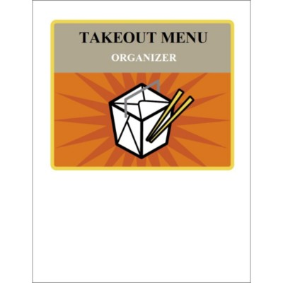 Take Out Box Binder Cover Insert, 1 per sheet
