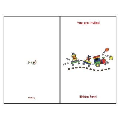 Birthday Train Half-Fold Greeting Card - Tall