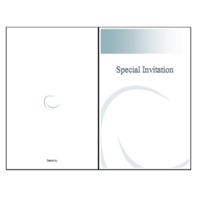 Ellipse Half-Fold Greeting Card - Tall