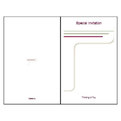Lines Design Half-Fold Greeting Card - Tall