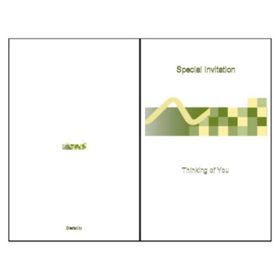 Tech Half-Fold Greeting Card - Tall