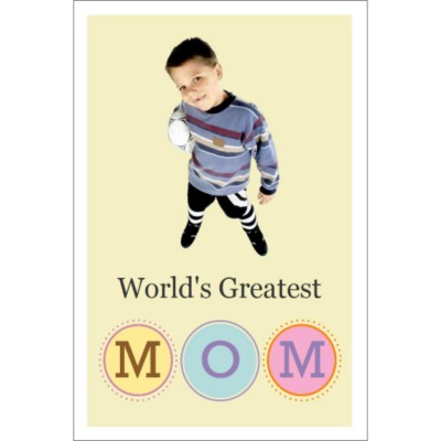 "Mother's Day Dark T-Shirt Transfer - 4x6"" - 1 per sheet - World's Greatest Mom"