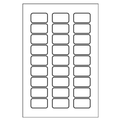Multi-Use Label, 27 per 4x6 sheet, 5109