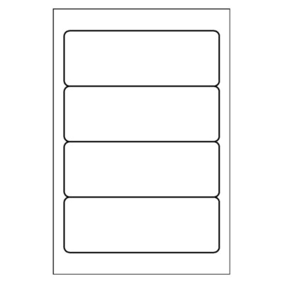 Multi-Use Label, 4 per 4x6 sheet, 5124