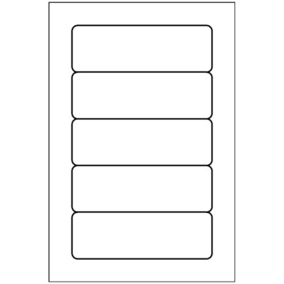 Multi-Use Label, 5 per 4x6 sheet, 5436 - 1x3