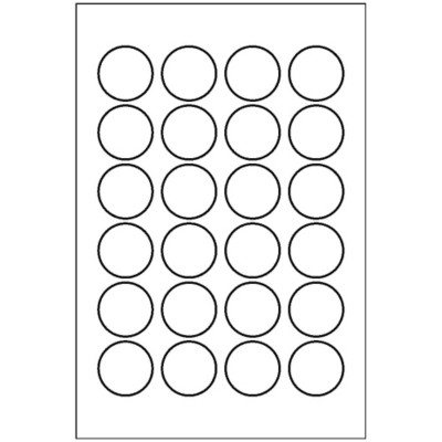 Round Label, 24 per 4x6 sheet, 5408