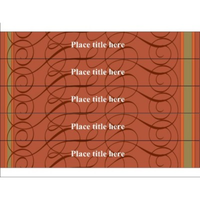 Swirl Binder spine for 1 1/2 inch binders, 5 per sheet