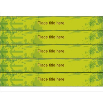 Bright Green binder spine for 1 1/2 inch binders, 5 per sheet