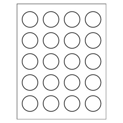 Round Label, 20 per sheet