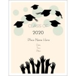 Templates graduation hats off postcard tall 4 per for Avery template 3380
