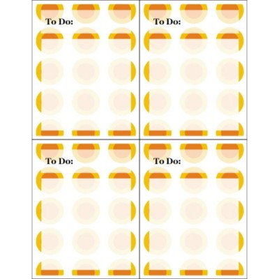 Bright Circles Postcards, 4 per sheet - Tall