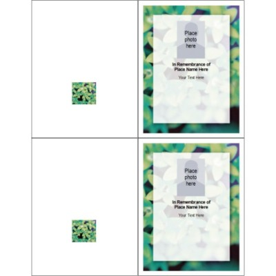 In Memory Note Card, 2 per sheet