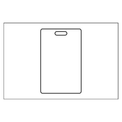 Access Control ID Label 1 per 4x6 sheet, 2993