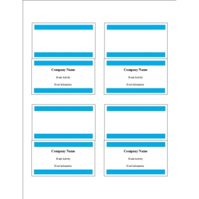 Blue Bars Small Tent Cards, 4 per sheet