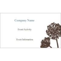 templates brown tree small tent cards 4 per sheet avery