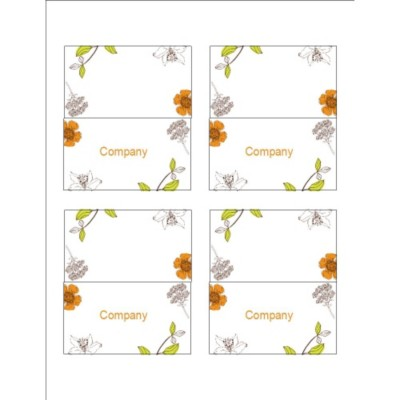 Simple Garden Small Tent Cards, 4 per sheet