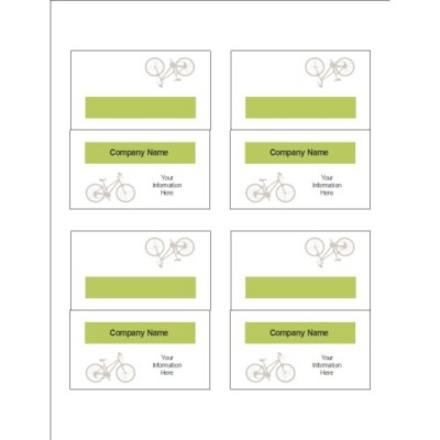 Grey Bicycle Small Tent Card, 4 per sheet