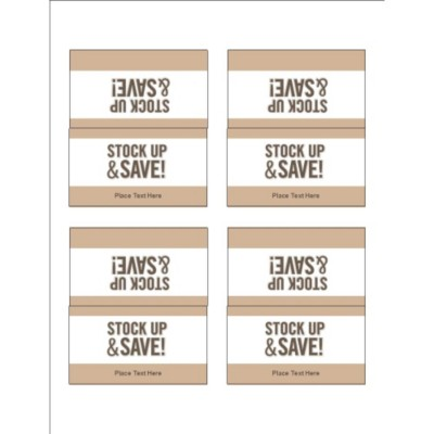 Pale Taupe Border Small Tent Cards, 4 per sheet