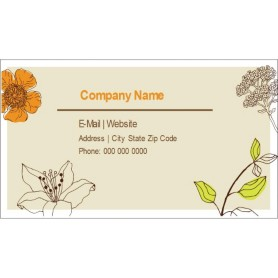 Templates simple garden business cards 10 per sheet avery for Avery template 28371 business cards