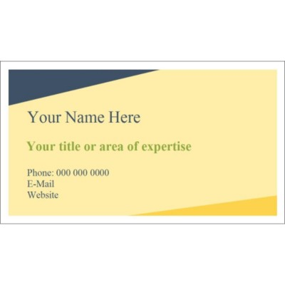 Templates Blue and Yellow Background Business Card 10
