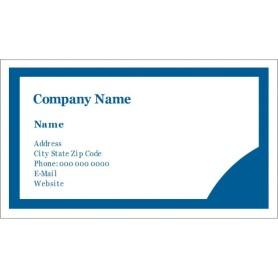 Templates blue circle design business cards 10 per for Avery templates 28371