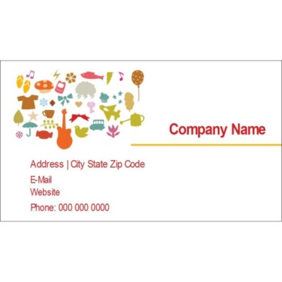 Templates Kids Icons Business Cards 10 per sheet