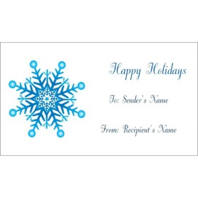 templates snowflake gift tags on business cards 10 per sheet