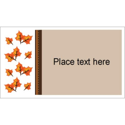 Templates Thanksgiving Fall Leaves Business Cards 10