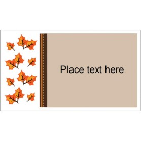 templates thanksgiving fall leaves business cards 10 per sheet