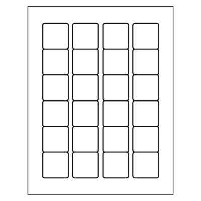 Square Label, 24 per 4x6 sheet