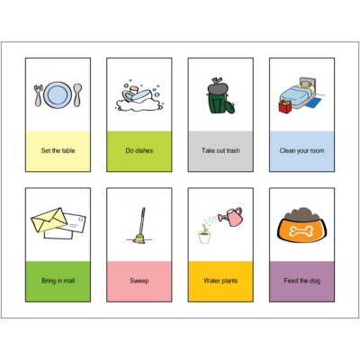 Chore Cards Print to the Edge Business Cards, 8 per sheet
