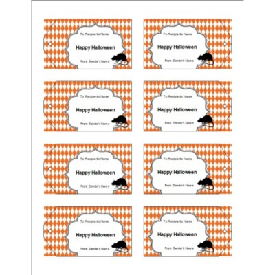 Oh Rats! with Diamond Pattern Printable Tags, 8 per sheet