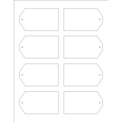 Printable Tags with Strings, 8 per sheet - Wide