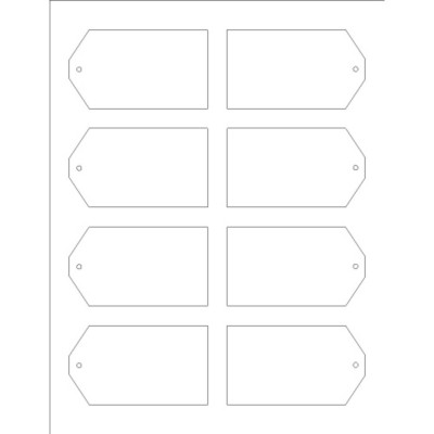 Printable Tags with Strings, 8 per sheet - Tall