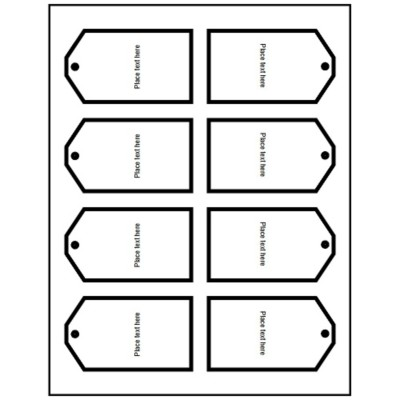 Printable Tags with Strings, 4 per sheet - Tall