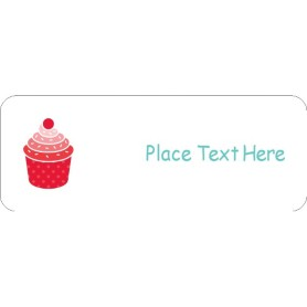 Templates birthday cupcake return address label 60 per for Avery 18695 template
