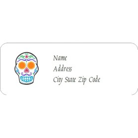 Templates day of the dead skull return address labels for Avery 18695 template