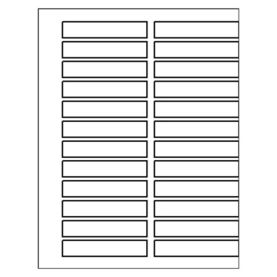 Double-Column Ready Index TOC Dividers, 24-Tab, DOC file for Microsoft Word all versions