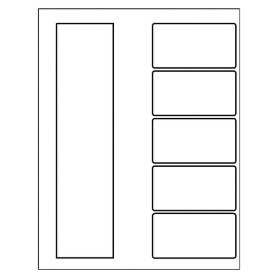 templates ready index dividers toc classic 5 tab black white doc file for microsoft. Black Bedroom Furniture Sets. Home Design Ideas