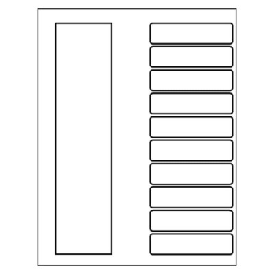 Ready Index TOC Dividers, 10-Tab, black & white, Quick-fill template for Microsoft Word version 2002-2007