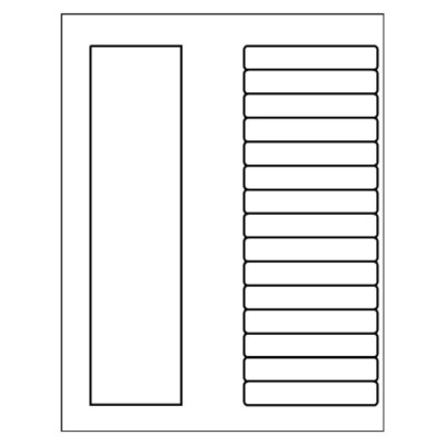 Ready Index TOC Dividers, 15-Tab, black & white, DOC file for Microsoft Word all versions