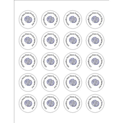 Basic Round Label - Clear, 20 per sheet