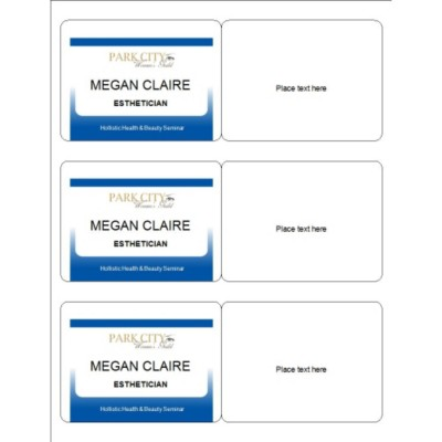 Meeting Name, Dark Blue Border, 3 per sheet