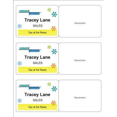 Summer Event Name Badge, 3 per sheet