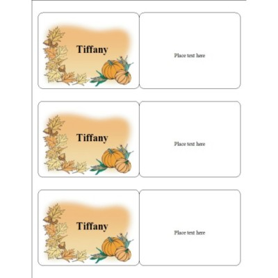 Thanksgiving Event Name Badge, 3 per sheet