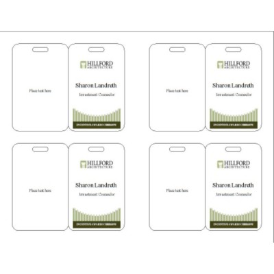 Event Name Badge, Green Border, 3 per sheet, 74554