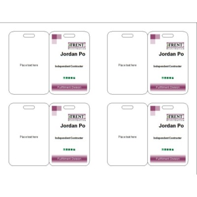 Basic name Badge, 3 per sheet, 74554